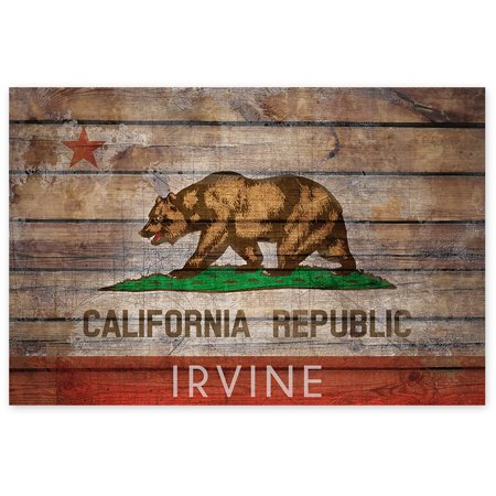 Awkward Styles Irvine Poster Wall Art CA Flag Digital Art CA Poster Decor Irvine Souvenirs Irvine Bear Flag Printed Art Irvine Picture for Home Office Wall Decor Cali Flag Irvine Unframed Picture