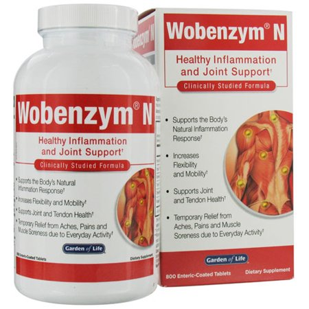 Garden Of Life Wobenzym N Healthy Inflammation And Joint Support Tablets - 800 (Wobenzym N 800 Best Price)
