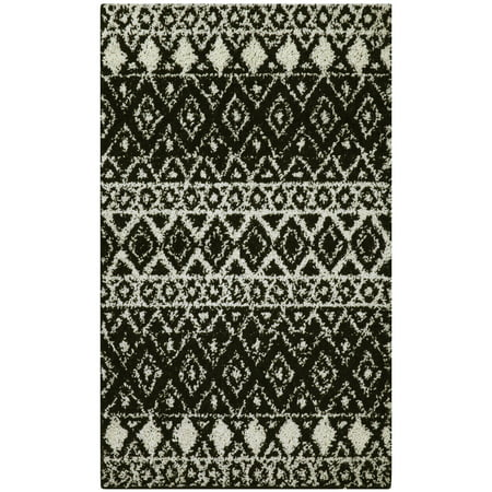 Mainstays Hayden Pattern Shag Area Rug and Runner Collection 8' Runner Transitions Runner