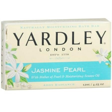 - Yardley London Jasmine Pearl Bar Soap, 4.25 oz (Pack of 2)