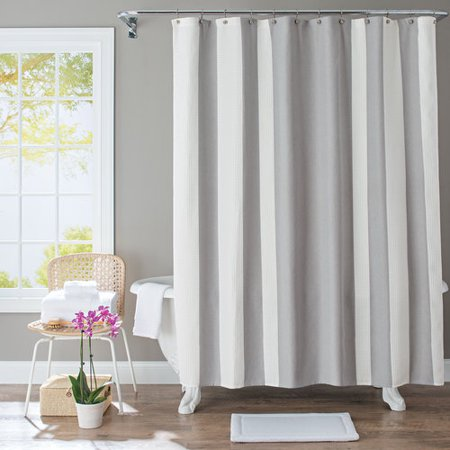 Better Homes Gardens Waffle Stripe Fabric Shower Curtain 1 Each