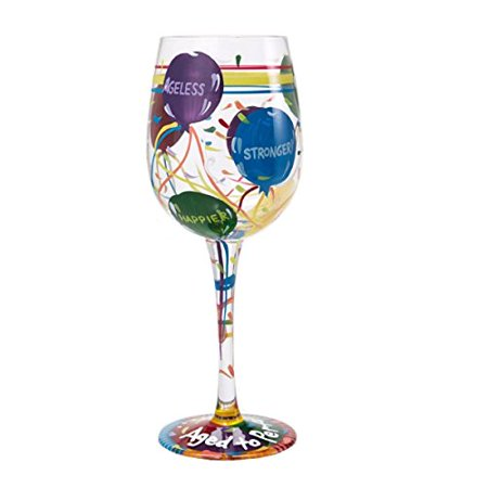 Lolita from Enesco Love My Wine Glass, Aged To Perfection