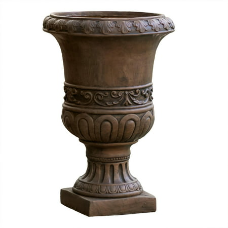 Noble House Roman Brown Turkish 26-inch Urn Planter
