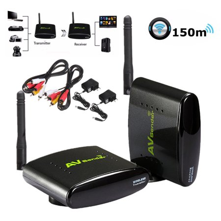 Wireless TV Audio Video Transmitter and Receiver, Signal Max 164 Feet  Transmission for Cable Box/Computer/PC-Projector/Monitor/TV Display STB DVD  /