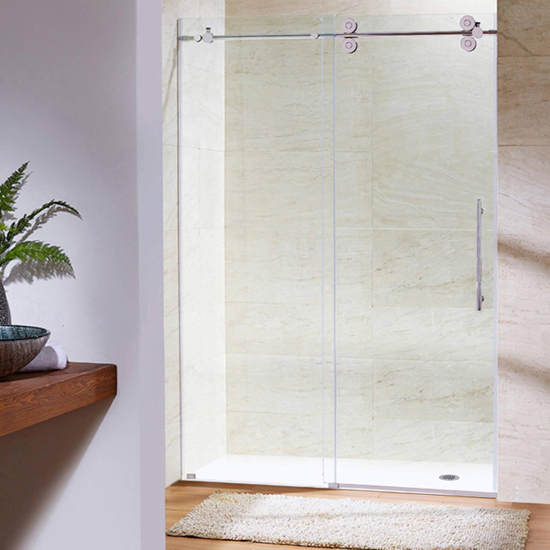 Vigo Elan 64 Frameless Shower Door 38 Clear Glasschrome