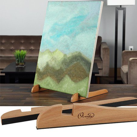 TABLETOP Painting EASEL The Original Overby Portable Compact Easy Carry Pocket Art Easel for Children Teen & Adult Painters. Rubber Foot Pads Hold & Display Any Canvas Stable (12