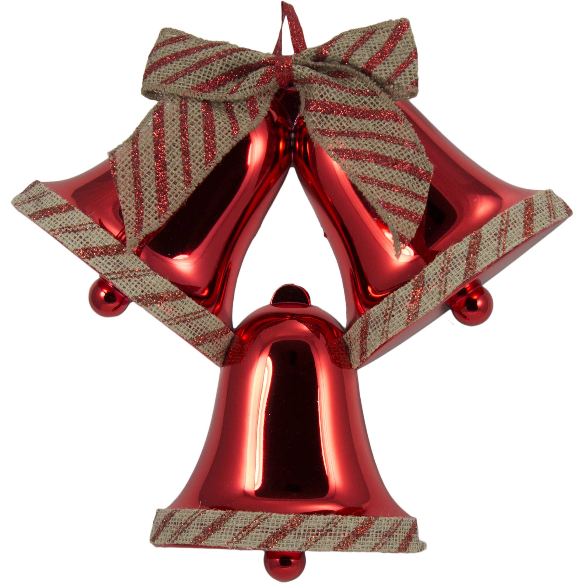 Holiday Time Red Bells Christmas Decoration