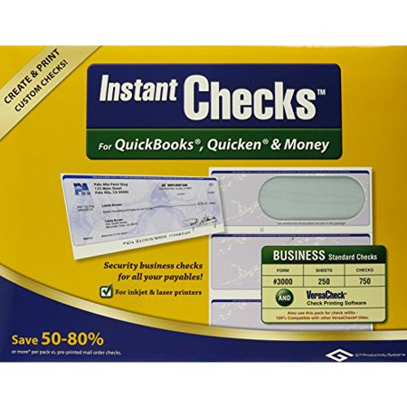 Instant Checks #3000 Business Green 250