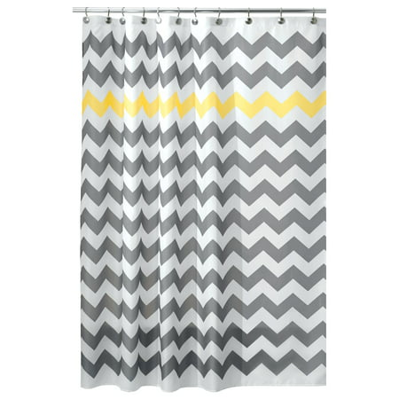 InterDesign Chevron Fabric Shower Curtain, Stall 54
