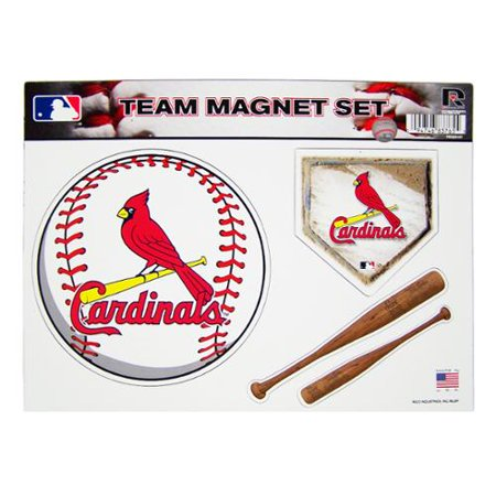 st louis cardinals official mlb 8 inch x 11 inch 3 piece. Black Bedroom Furniture Sets. Home Design Ideas
