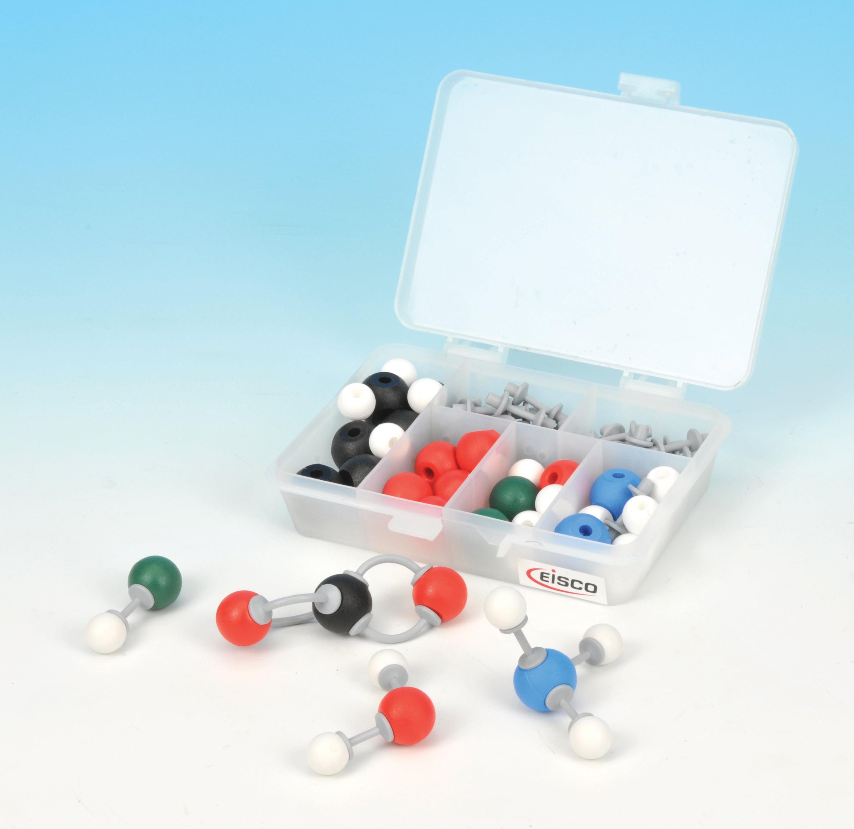 Eisco Labs Molecular Model Set - Basic Organic Chemistry (30 Atoms, 24 Bonds)