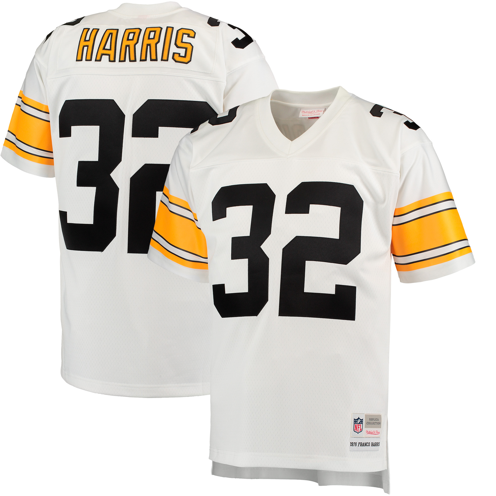 Franco Harris Pittsburgh Steelers Mitchell & Ness 1976 Replica Retired Player Jersey - White