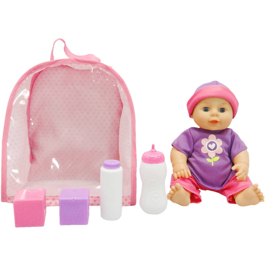"""My Sweet Love 10.5"""" Backpack Baby with Accessories, Purple"""