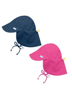 e129de7e3a8 Product Image i play Baby and Toddler Flap Sun Protection Hat-Navy and Hot  Pink - 2