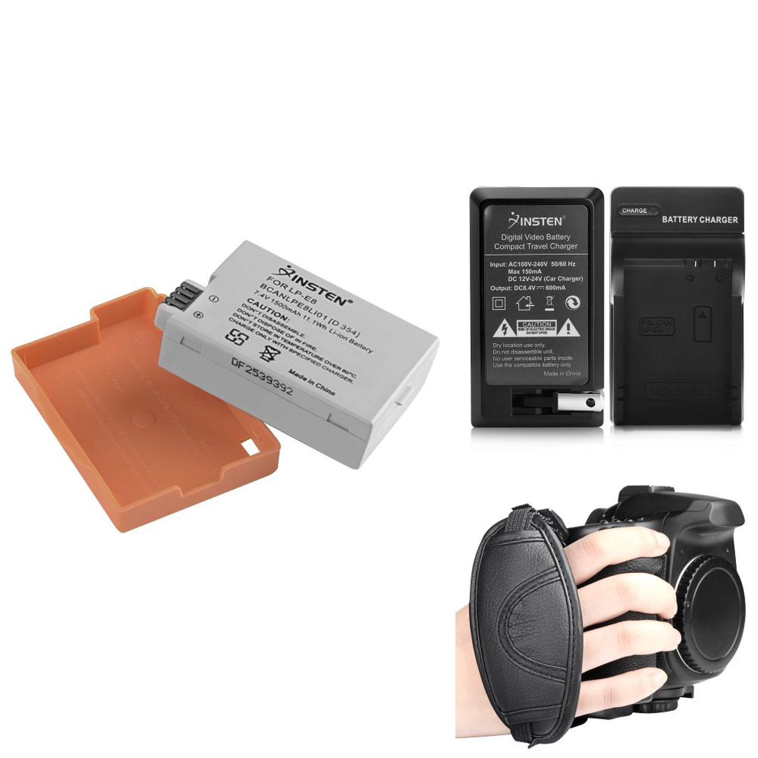 Insten LP-E8 Compatible with Canon EOS 700D Li-ion Battery for EOS Rebel T2i