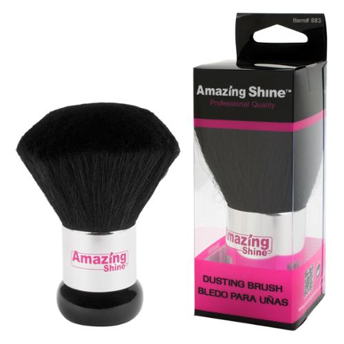 Amazing Shine Salon Professional Quality Nail Dusting Brush, BLACK, 18836
