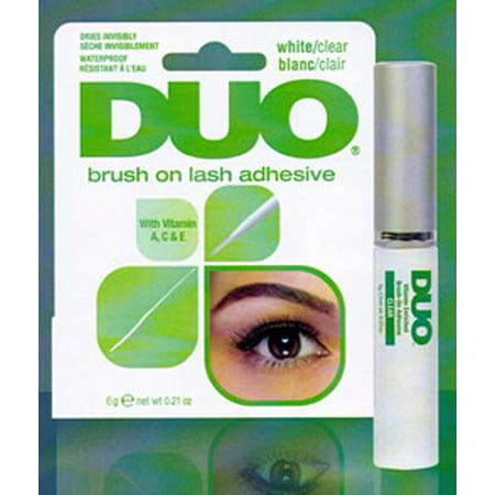 Duo Striplash Brush On Adhesive, Clear, 0.18 oz (Clear Adhesive)