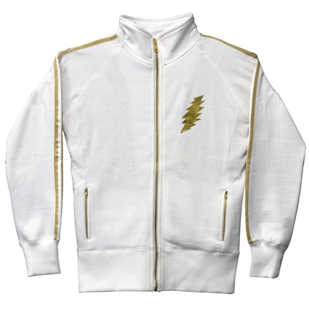 Grateful Dead - White Bolt Juniors Track Jacket - (Diad Jacket)