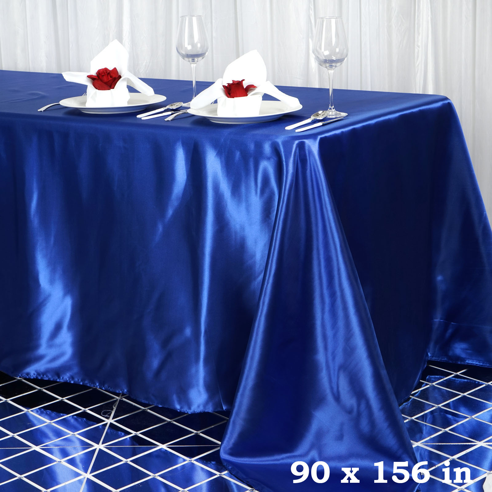 "BalsaCircle 90"" x 156"" Rectangular Satin Tablecloth Table Covers for Party... by BalsaCircle"