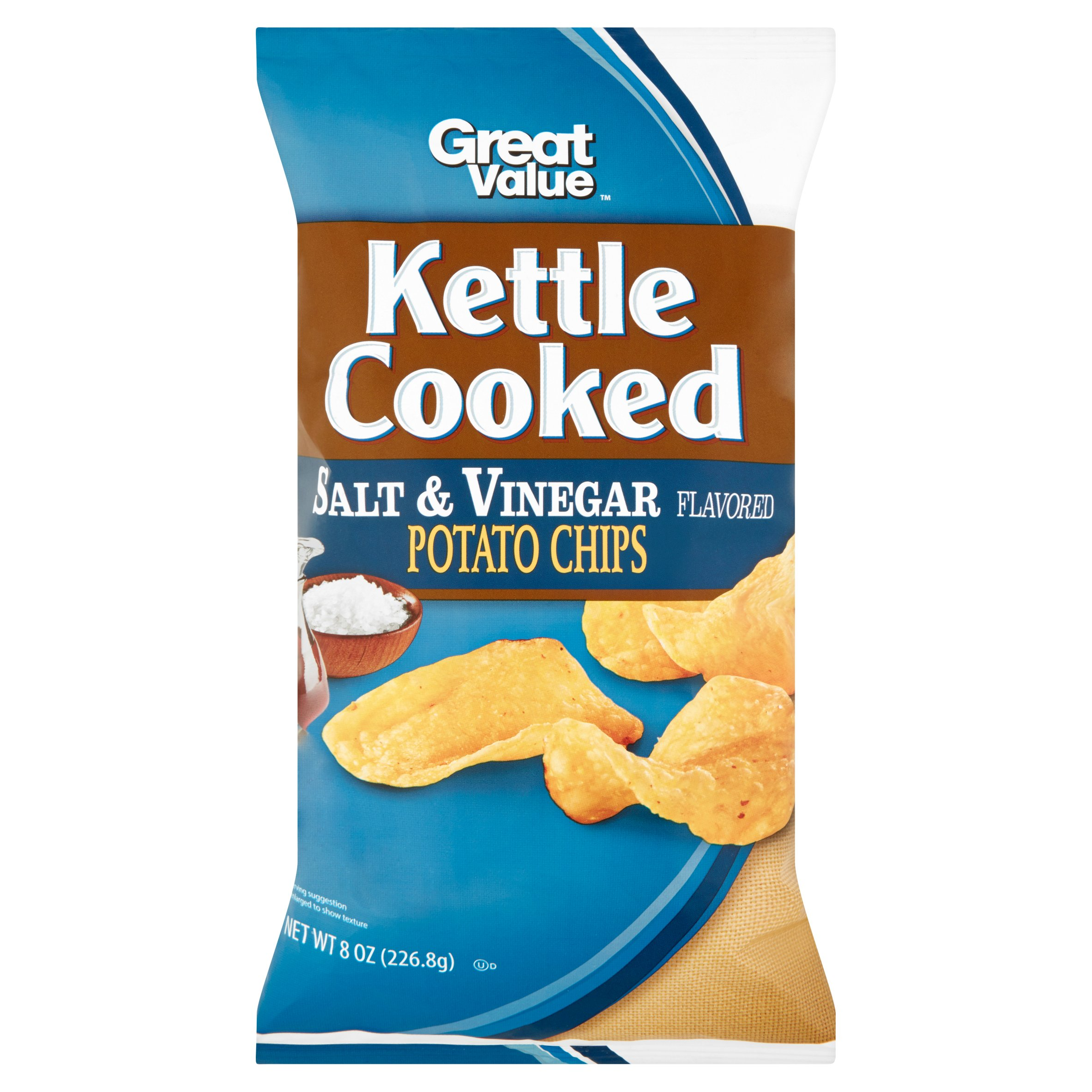 Great Value Kettle Cooked Salt & Vinegar Flavored Potato Chips, 8 oz by Wal-Mart Stores, Inc.