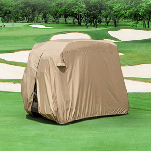 Durable Two Person Golf Cart Cover Tan GCC-F98