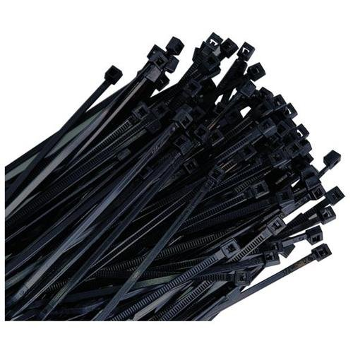 "K Tool International KTI-78070 7"" Black Wire Tie, 50 Lb. Tensile 100/pk"
