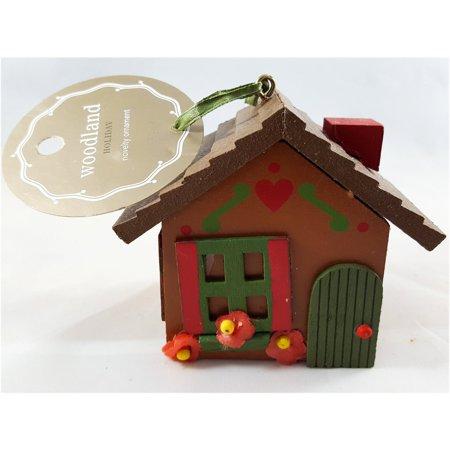 Martha Stewart Woodland Holiday Cottage Novelty Ornament Brown ()