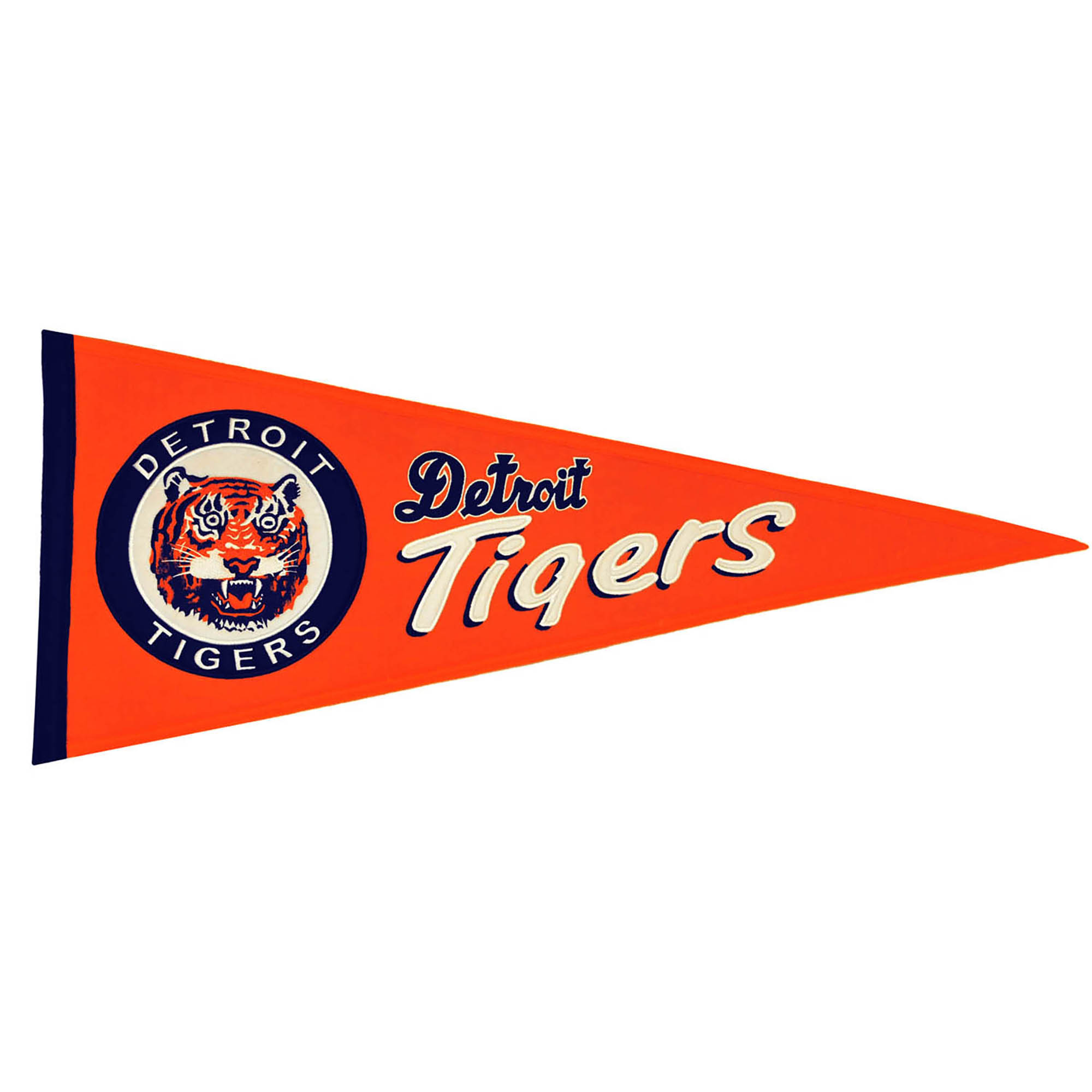 """Detroit Tigers 13"""" x 32"""" Cooperstown Pennant - No Size"""