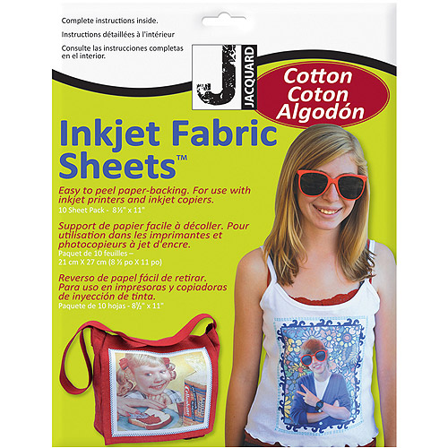 Inkjet Fabric Sheets, 10pk
