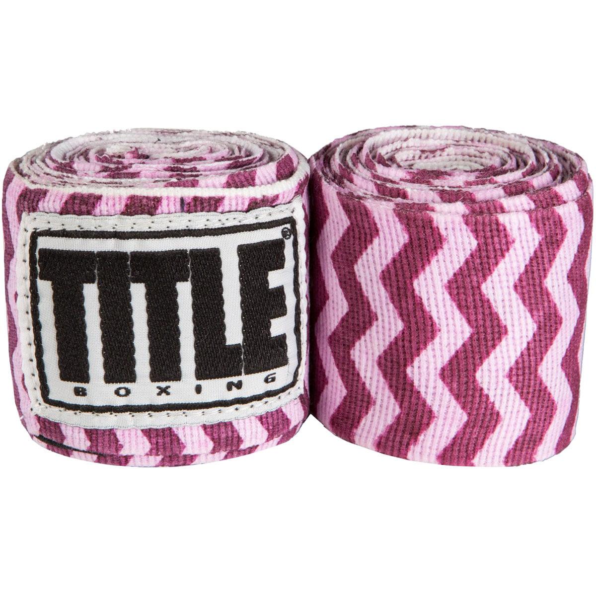 "Title Boxing 180"" Select Semi-Elastic Mexican Style Handwraps - Zig Zag"