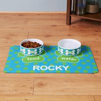 Personalized Dog Bone Placemat, Available in 4 Colors