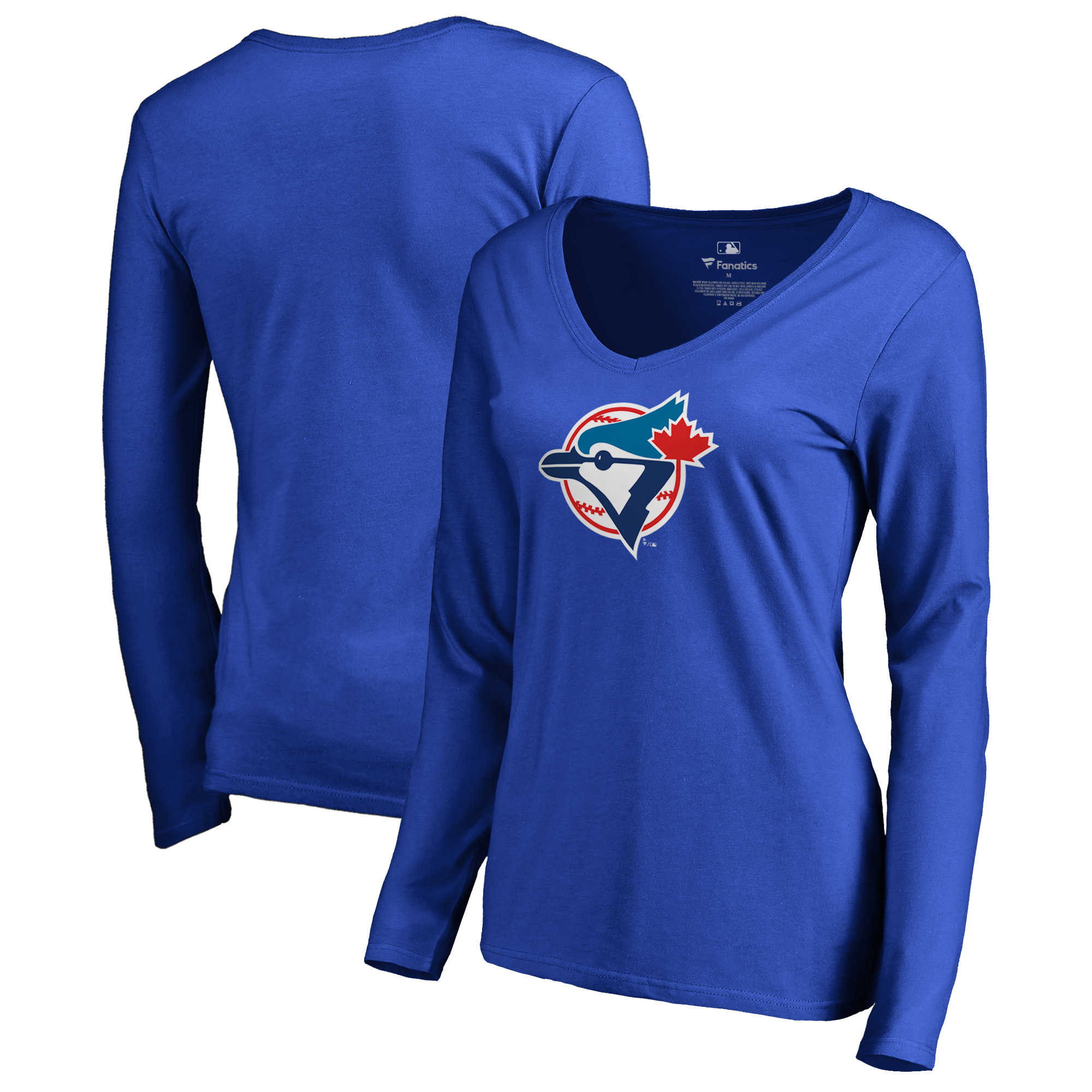 Toronto Blue Jays Fanatics Branded Women's Cooperstown Collection Forbes Long Sleeve V-Neck T-Shirt - Royal