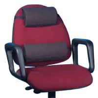 Lumbar Cushion Memory Foam Back Support, Black, Size: 13 X 6 Inches - 1 Ea