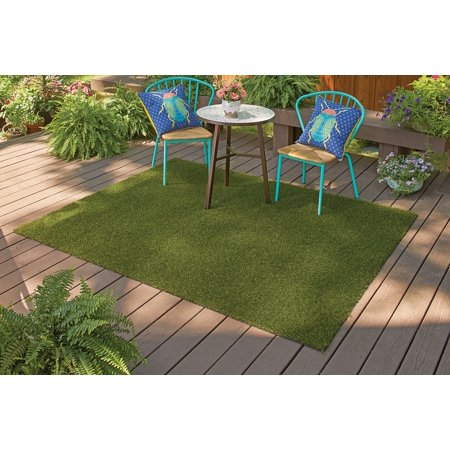 "Better Homes & Gardens 6'x7'5"" Faux Grass Rug"