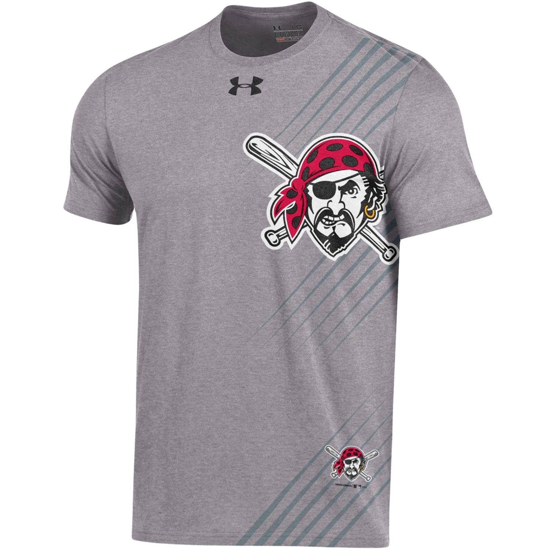 Men's Under Armour Gray Pittsburgh Pirates Limitless Logo Tri-Blend T-Shirt