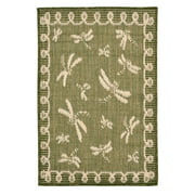 Liora Manne Terrace 1791/76 Dragonfly Green Area Rug 7 Feet 10 Inches  Rd