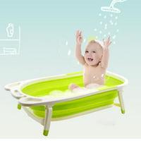 Baby Folding Collapsible Portable Bathtub w/ Block Green
