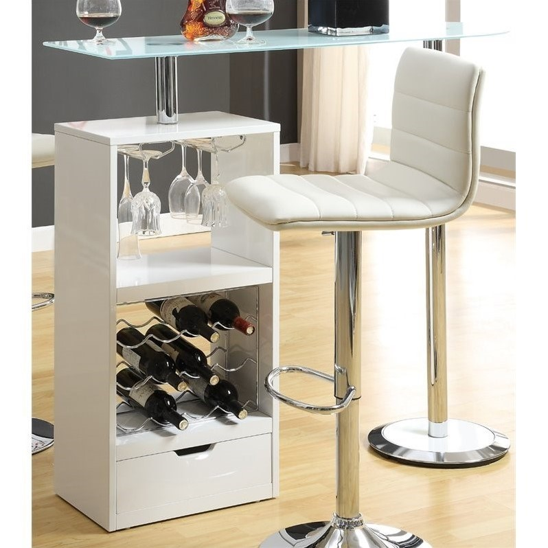Coaster Contemporary Pub Table in White by Coaster