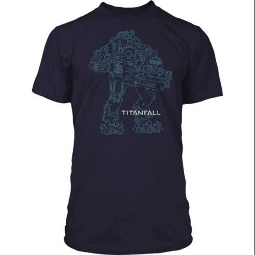 Titanfall Atlas Outline Premium Cotton Adult T-Shirt