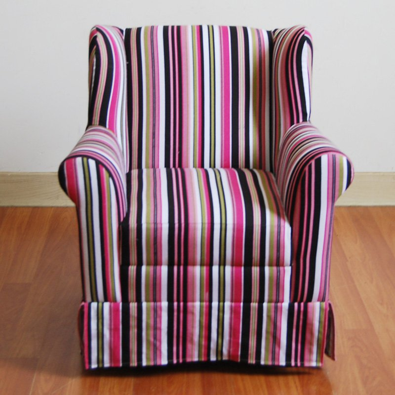 4D Concepts Wingback Armchair Striped by 4D Concepts