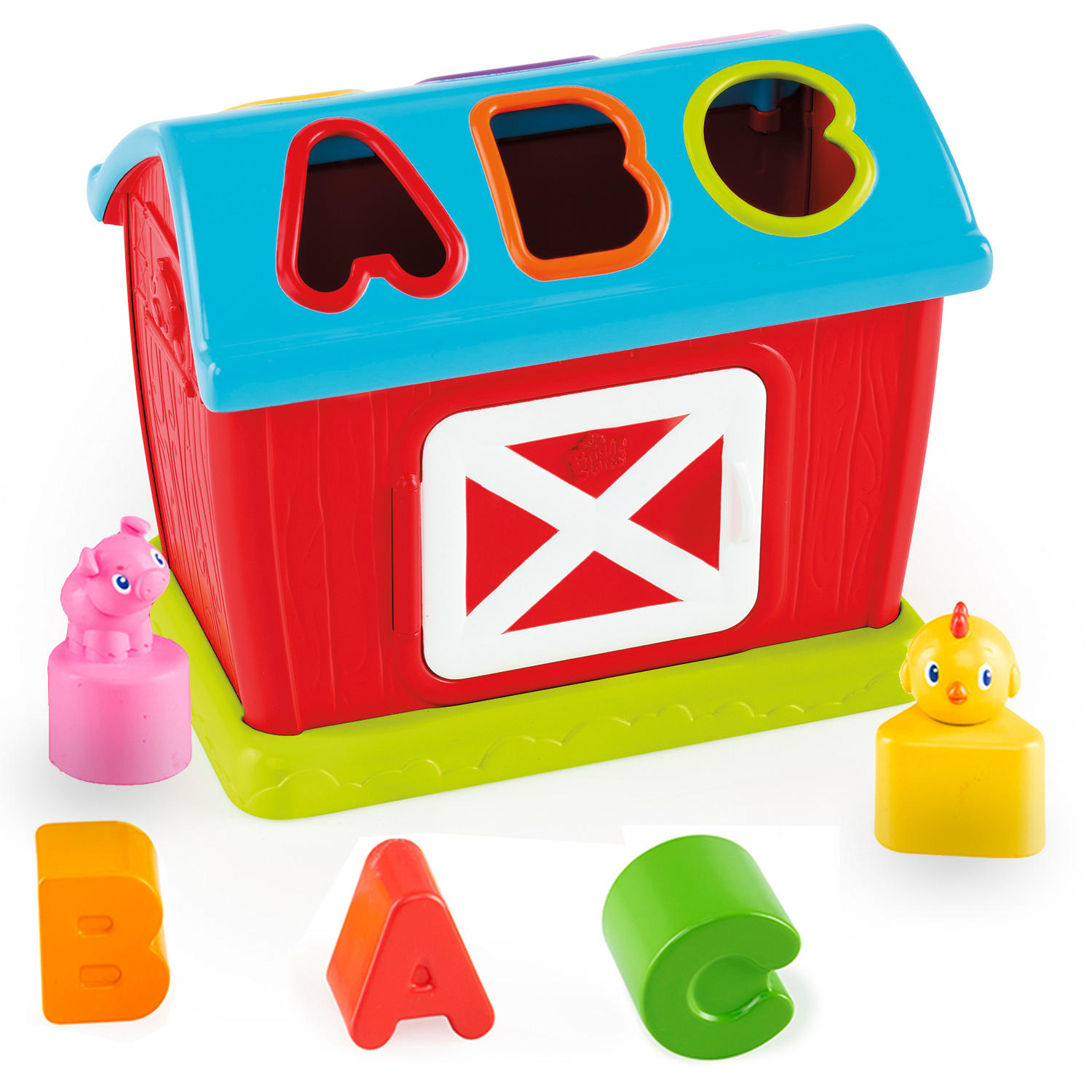 Bright Starts Barnyard Shape Sorter Toy