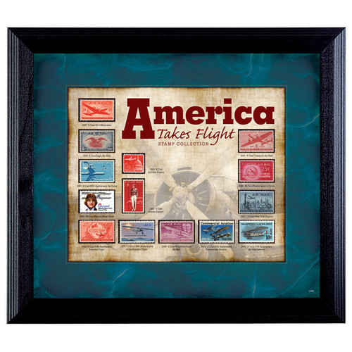 American Coin Treasures America Takes Flight Stamp Framed Memorabilia