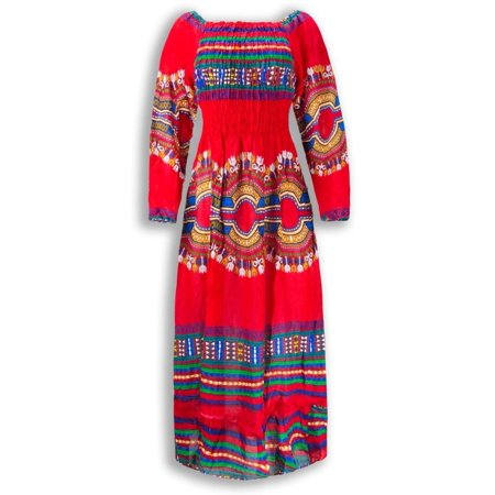 NEW Women Mariachi Dress Traditional Mexican Dress Ruffles 6 Colors One Size