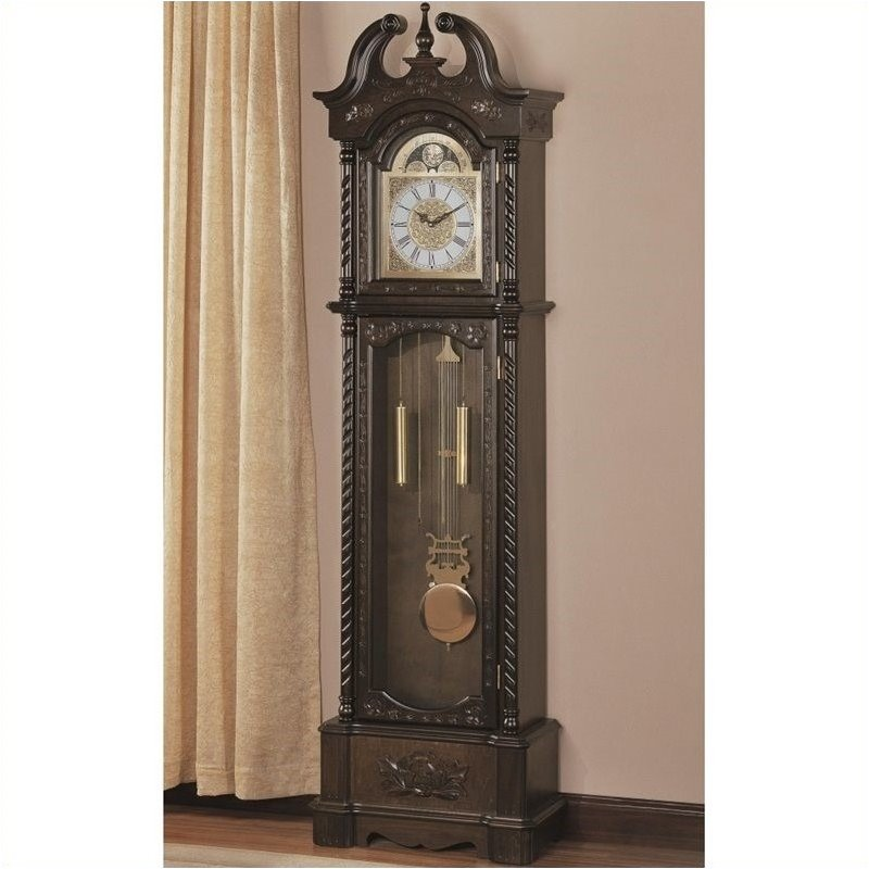 Bowery Hill Grandfather Clock in Deep Brown by Bowery Hill