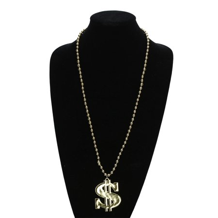 Deluxe Dollar Sign Necklace - Gold Dollar Sign Necklace