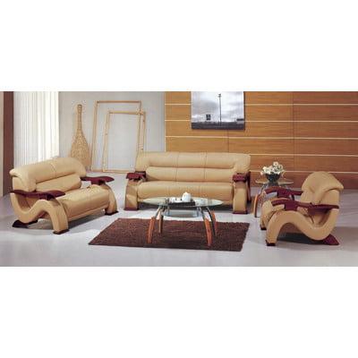 Bundle-38 Hokku Designs Chrysocolla Leather Sofa (2 Pieces)