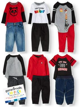 Garanimals Baby Boy Kid-Pack Gift Box, 12pc Set