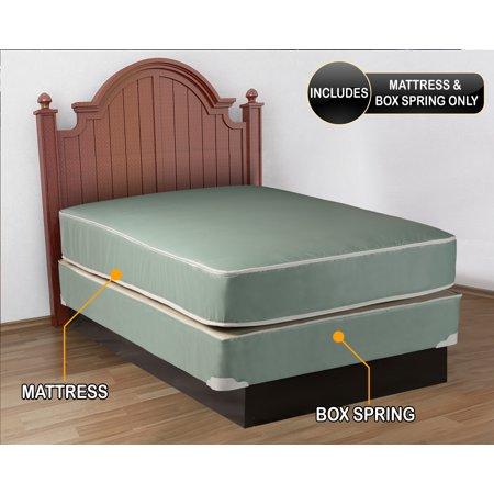plasticized institutional full size mattress box spring set. Black Bedroom Furniture Sets. Home Design Ideas