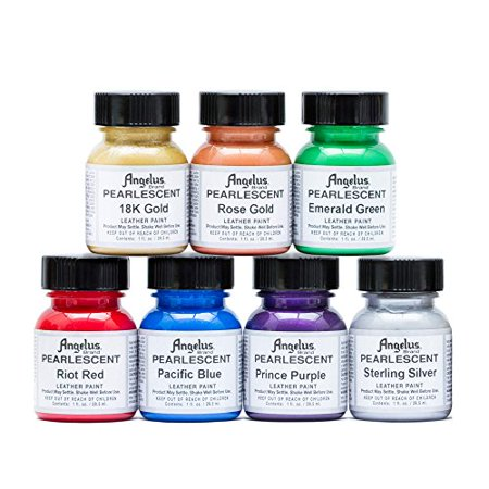 Angelus Pearlescent Leather Acrylic Paint Complete 1 Oz - Acrylic Paint Kit