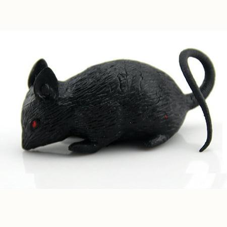 L - Funny Joke Fake Lifelike Rubber Mouse Prop Halloween Gift Toy